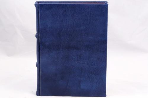Colorful Handmade Leather Journal - blue