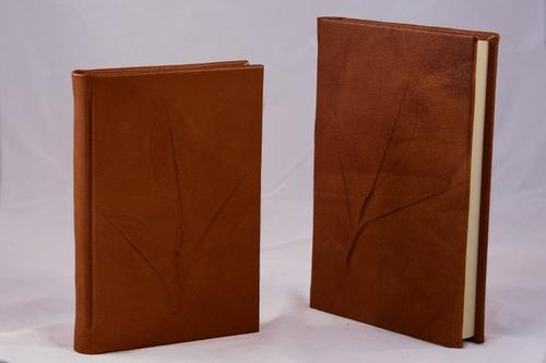 Nature Inspired Handmade Leather Journal - camel + 3 other colors