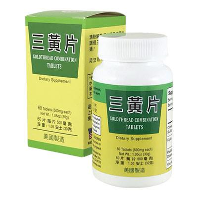 NEW! Goldthread Combination Tablets for Clearing Heat (San Huang Pian)