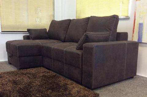 boston storage corner sofa bed