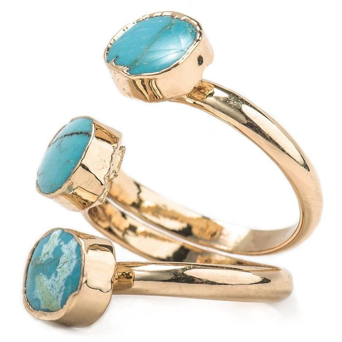 Vintage Wrap Gold & Turquoise Ring