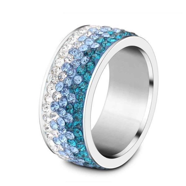 Shimmering Sea Crystal Ring