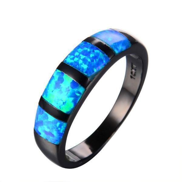 Midnight Ocean Galaxy Ring