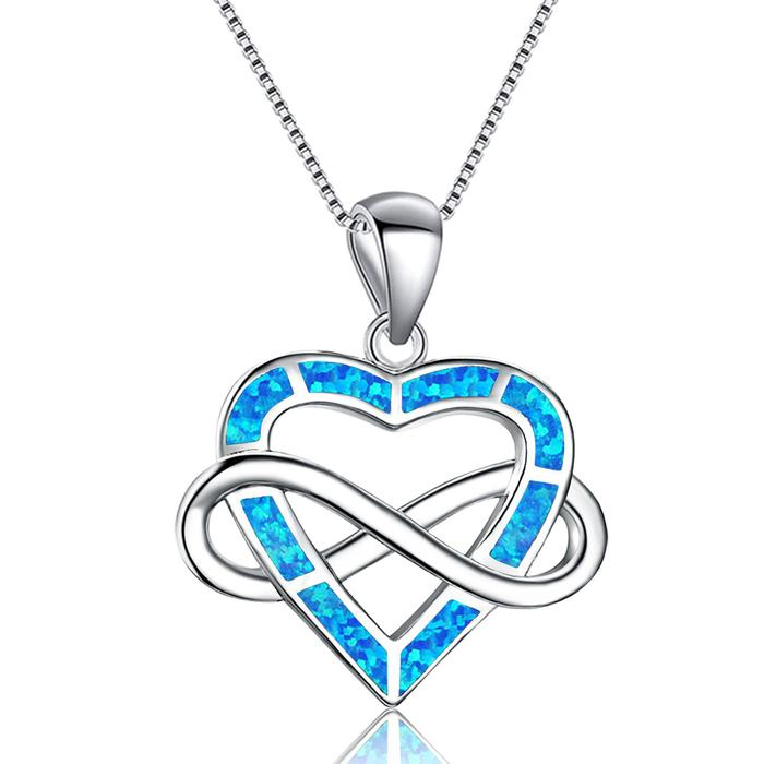 Infinite Opal Heart Pendant