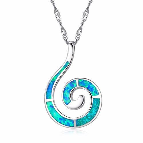 Opal Swirl Pendant