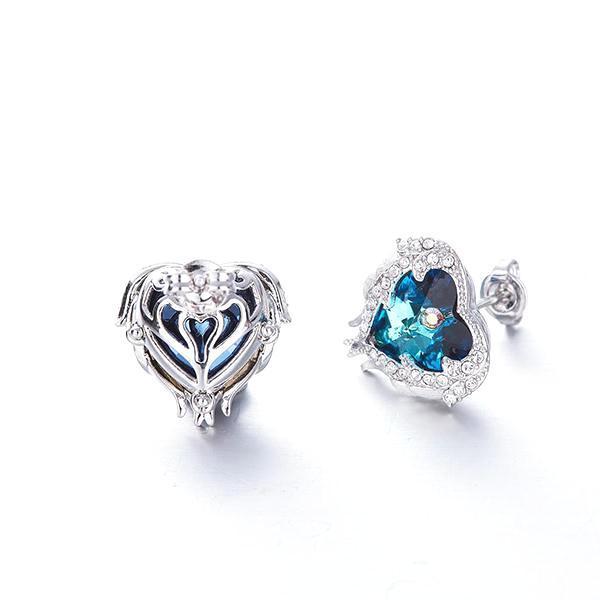 Swarovski Angel Heart Earrings