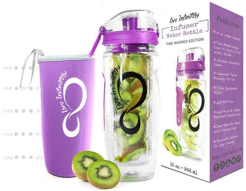 32oz Fruit Infuser With Time Marking & Insulation Sleeve (Social Special)