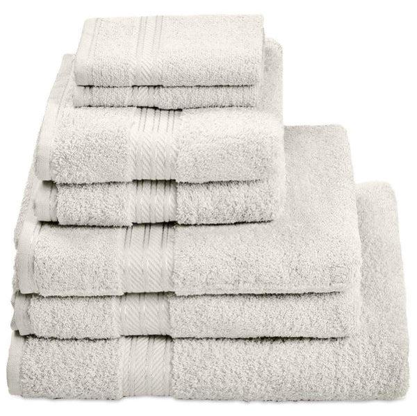 Hampton and Astley 100% Egyptian Cotton 7 Piece Luxury Bath Towel Set, Cream