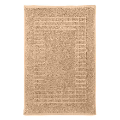 Hampton and Astley 100% Egyptian Cotton Luxury Bath Mat, Caramel Latte