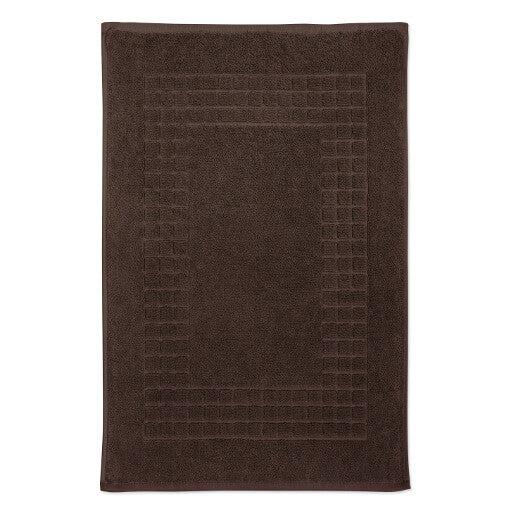 Hampton and Astley 100% Egyptian Cotton Luxury Bath Mat, Chocolate