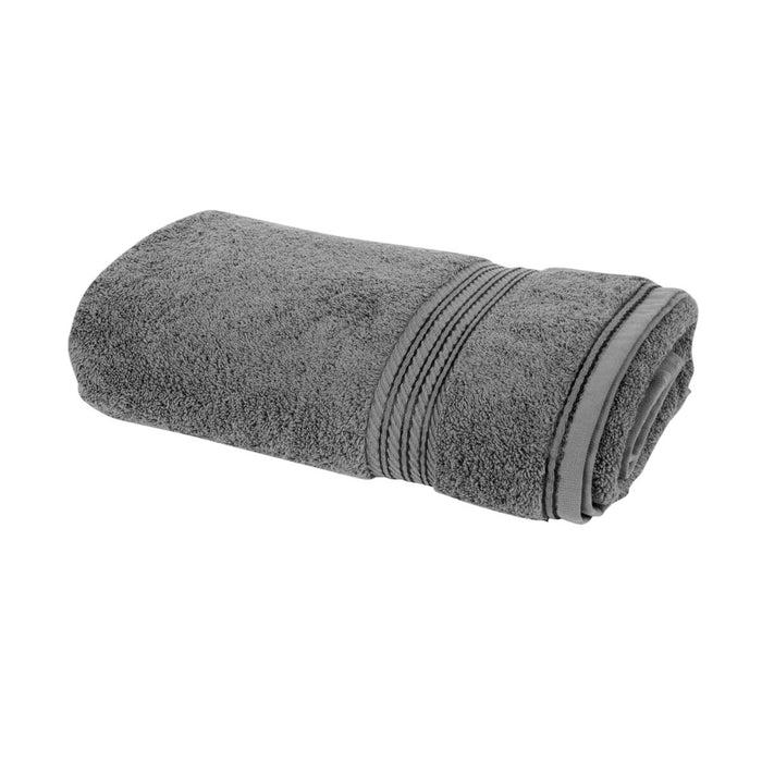 Hampton and Astley 100% Egyptian Cotton Luxury Bath Sheet, Charcoal Dark Grey