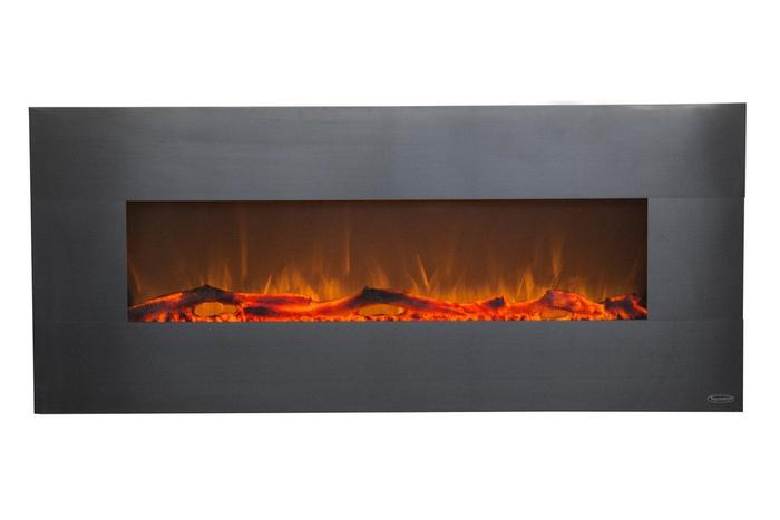 """Onyx Stainless 80026 50"""" Wall Mounted Electric Fireplace"""