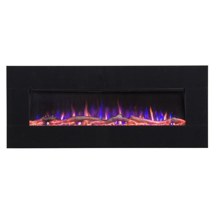 """AudioFlare Black Glass 80035 50"""" Recessed Electric Fireplace"""