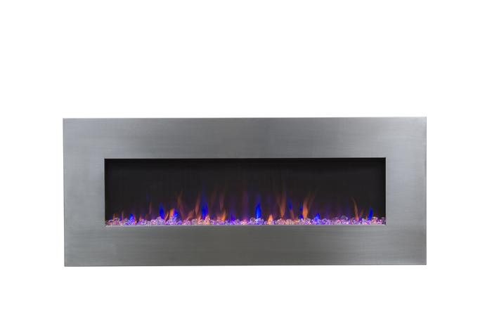 """AudioFlare 80024 Stainless 50""""Recessed Electric Fireplace"""