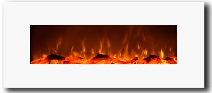 """Ivory 80002 Refurbished 50"""" Wall Mounted Electric Fireplace"""