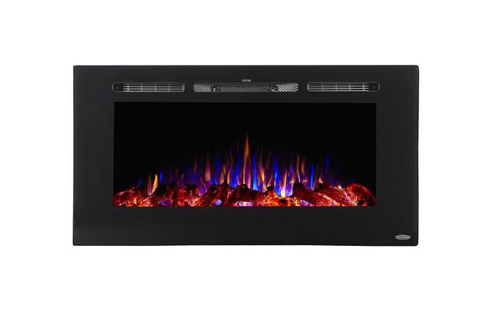 """Sideline 40 80027 40"""" Recessed Electric Fireplace"""