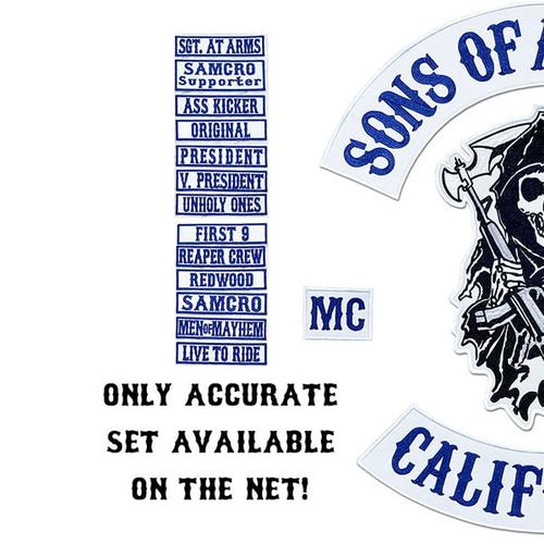 SONS OF OUTLAW BY 'AN R KEY' 25PC ORIGINAL PATCH SET