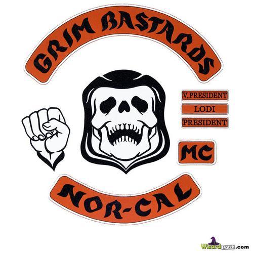 GRIM BASTARDS Full 8PC Patch Set MASSIVE $ALE!!