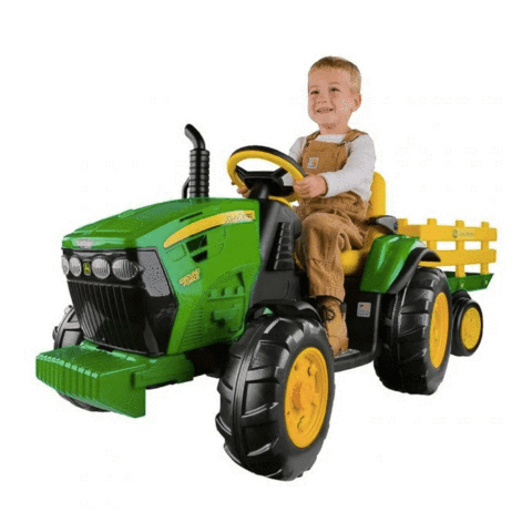 John Deere Ground Force 12v Kids Ride-On Tractor With Wagon