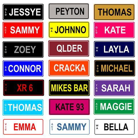 Personalised Number Plate for Kids Ride-On Car or Bike