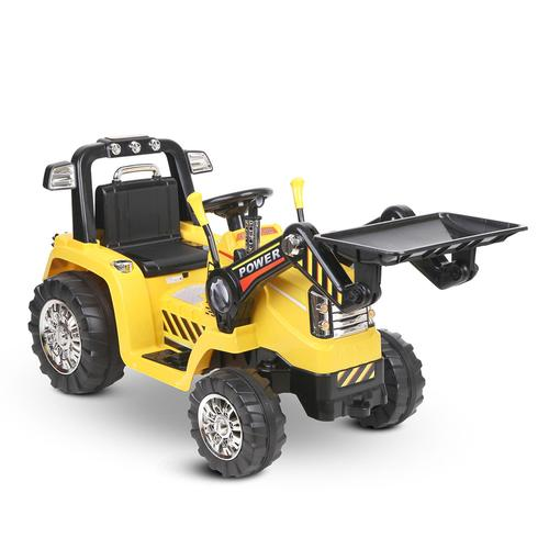 Tough Yellow & Black Dozer Tractor 6v Ride-On Kids Car