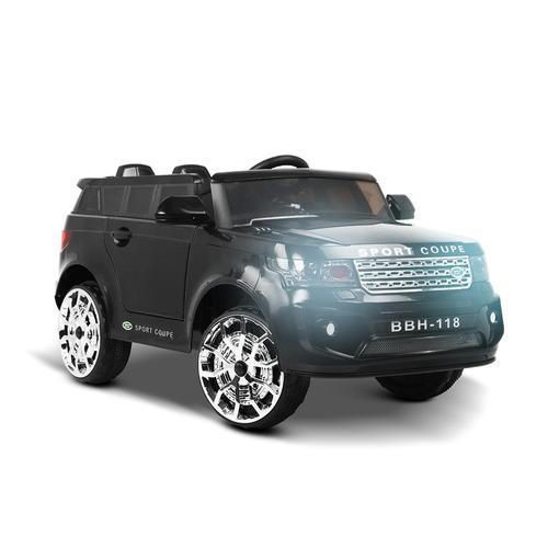 Land Rover Inspired Black 12v Ride-On Kids Car