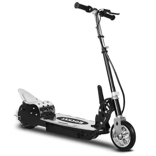 Kids Electric 24v Ride-On Rocket Scooter in Black