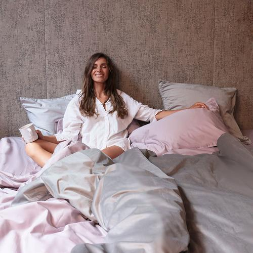 BAILEY - Dove Grey Velvet European Pillowcase