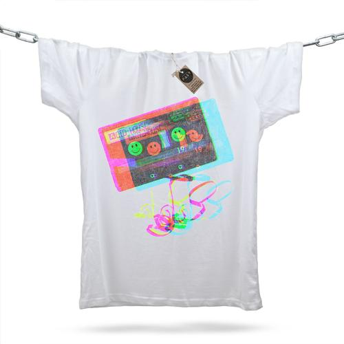Acid House Glitch Mixtape T-Shirt / White