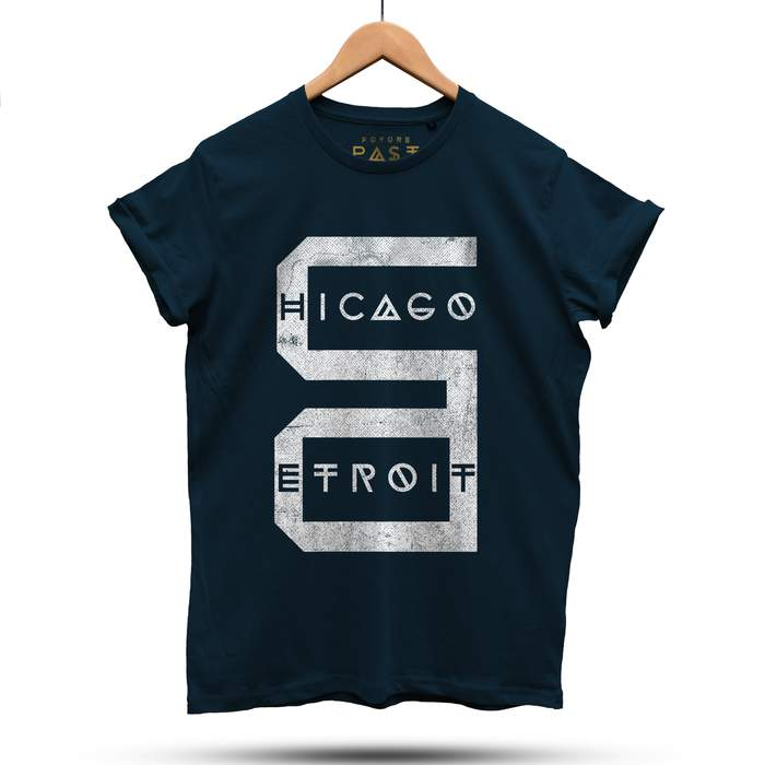 Detroit Chicago T-Shirt / Navy