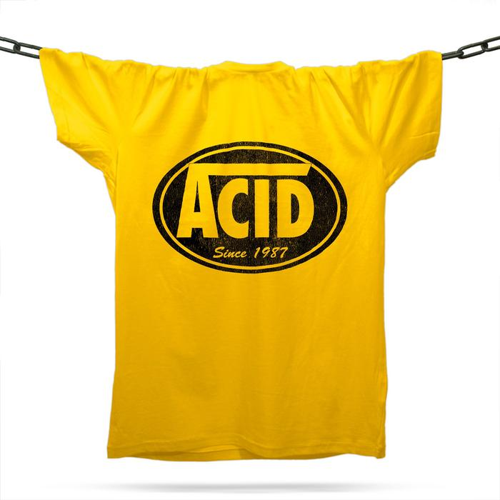 Acid Skatewear T-Shirt / Gold