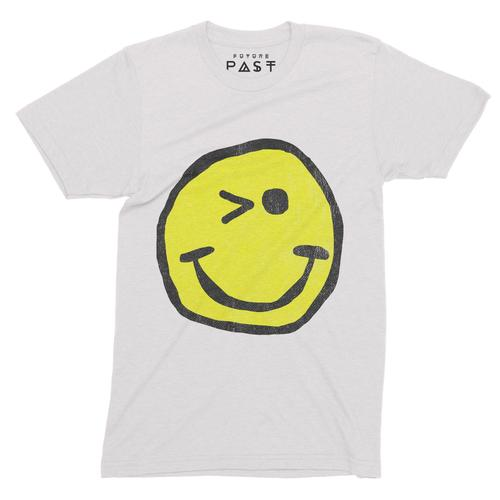 Winking Smiley Loves Acid House T-Shirt / White