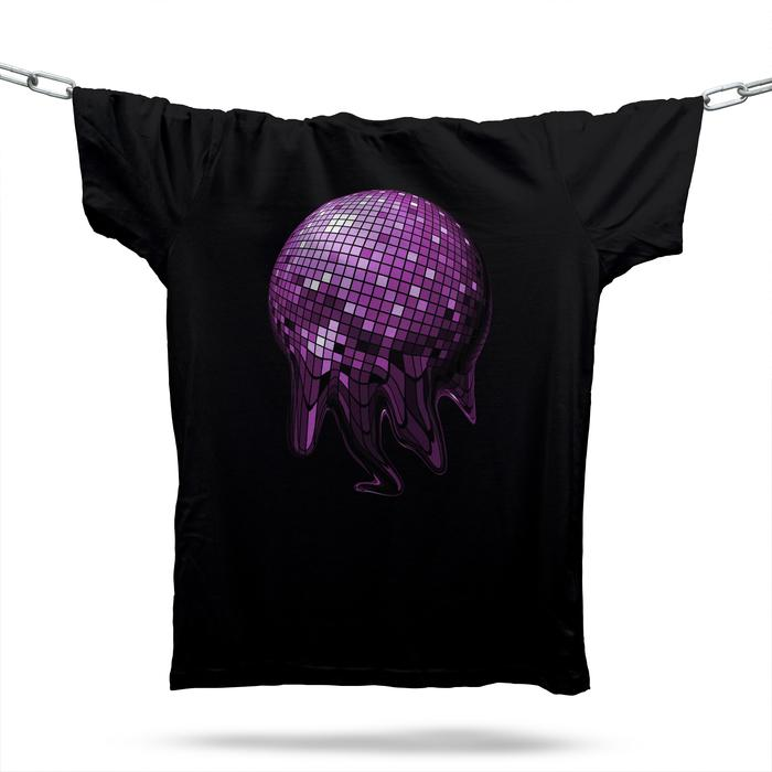 Melted Disco Ball T-Shirt / Black