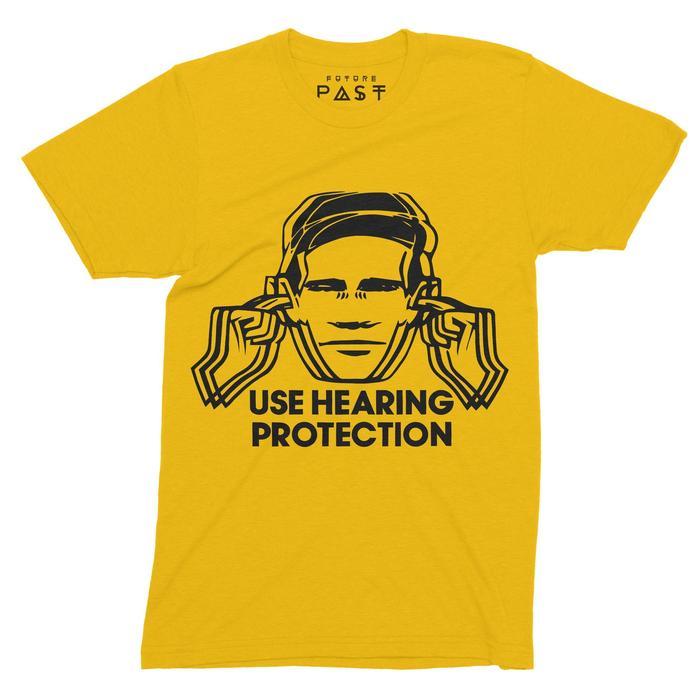Use Hearing Protection Hacienda T-Shirt / Gold