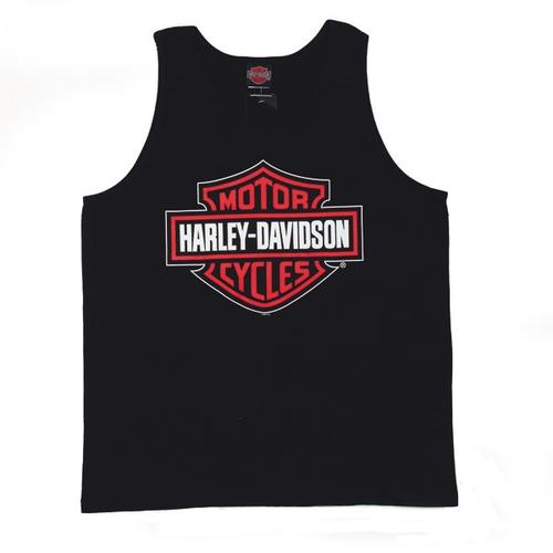 H-D Bar and Shield mens tank top