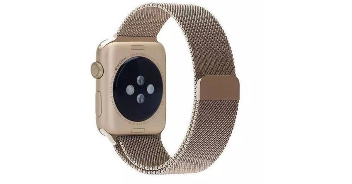 Vintage Gold Milanese Loop Apple Watch Band