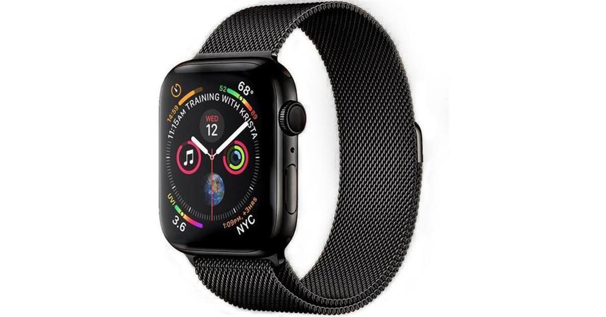 Black Milanese Loop Apple Watch Band