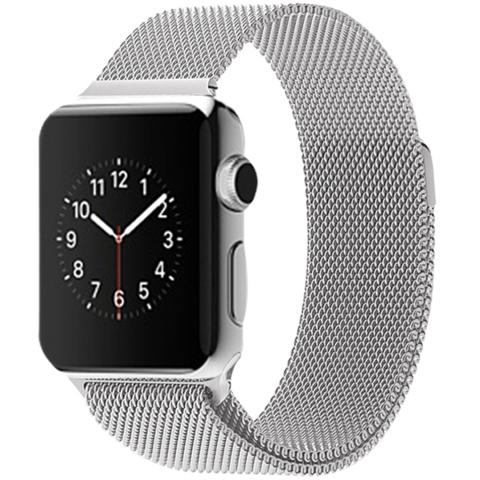 Silver Milanese Loop Apple Watch Band