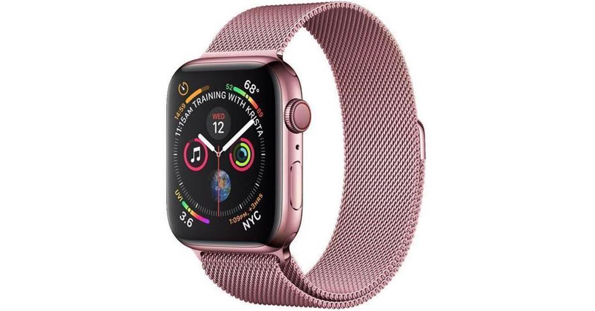 Rose Gold Milanese Loop Apple Watch Band