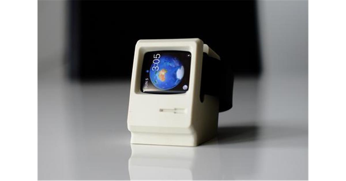 Macintosh Style Apple Watch Stand