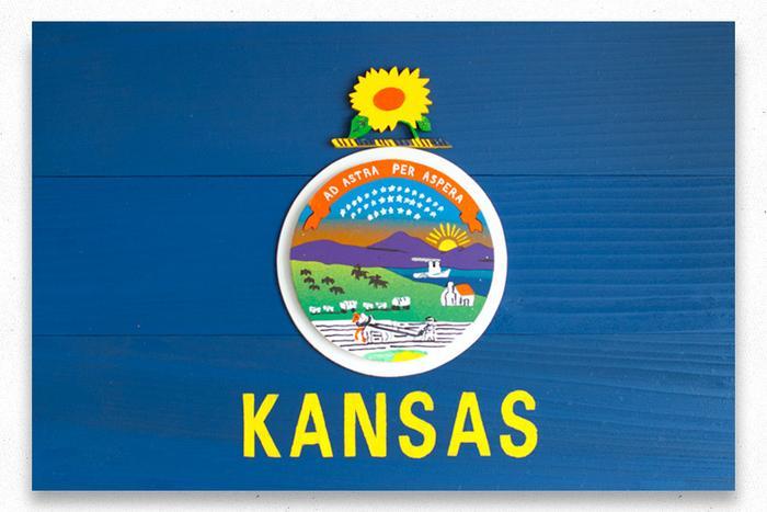 Kansas Wood Flag