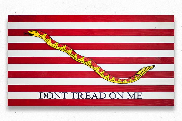 First Navy Jack Wood Flag
