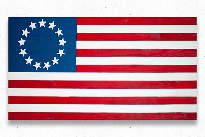 Betsy Ross Wood Flag