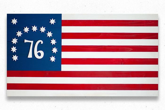 Bennington 1776 Wood Flag