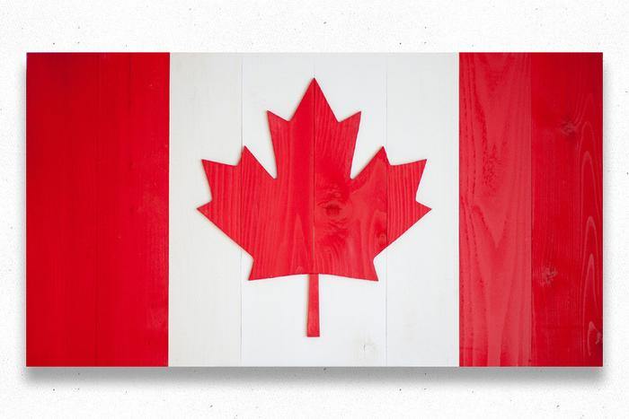 Canada Wood Flag