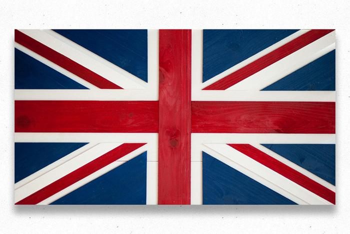 Union Jack Wood Flag