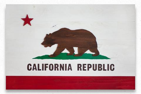 Custom:  California Wood Flag