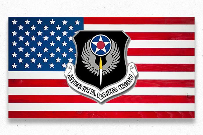 USA Air Force Custom Wood Flag