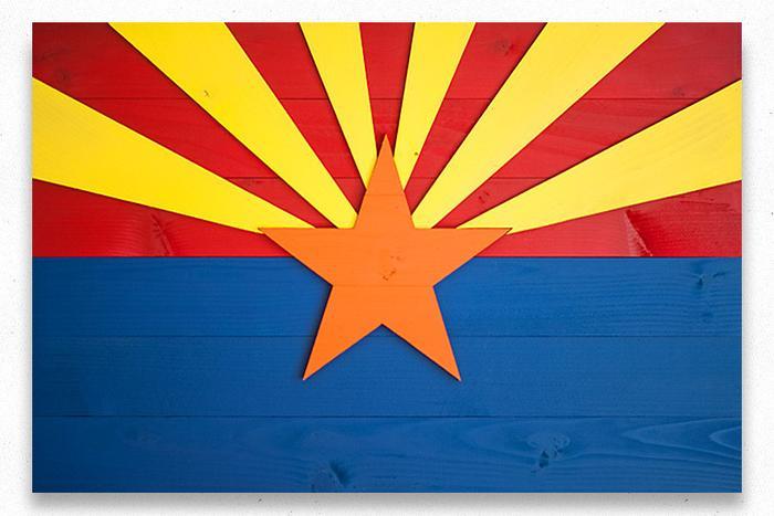 Arizona Wood Flag