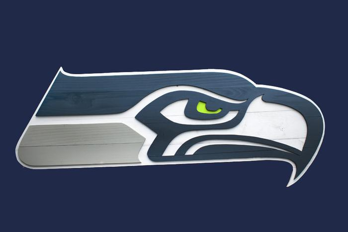 Seattle Seahawks Wood Wall Art